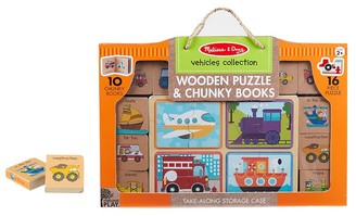 Pottery Barn Kids Melissa & Doug Natural Play Books & Puzzle Vehicles Set