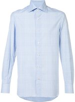 Isaia plaid shirt - men - Cotton - 16