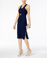 BCBGeneration Cutout Crepe Midi Dress