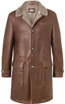 Brunello Cucinelli Shearling Coat - Brown