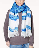 INC International Concepts Striped Brushed Blanket Wrap and Scarf in One, Created for Macy's