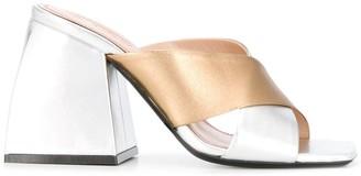 Nodaleto Metallic-Effect Mule Sandals