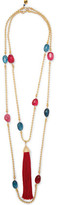 Rosantica Gold-Tone Bead And Tassel Necklace