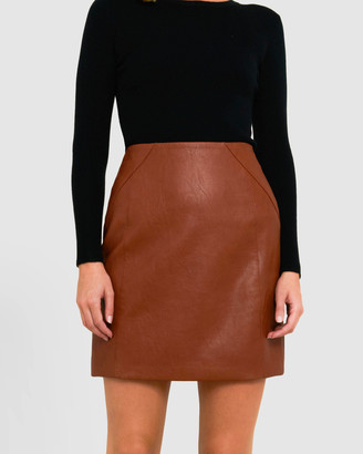Forcast Maia Pleather Skirt