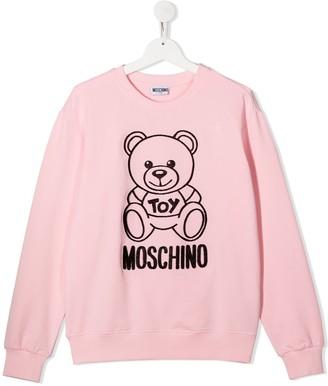 MOSCHINO BAMBINO TEEN Teddy Bear sweatshirt