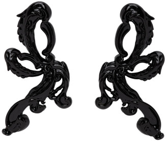 SHUSHU/TONG Black YVMIN Edition Bow Drop Earrings