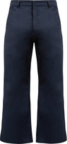 Martine Rose High-rise kick-flare cotton cropped trousers