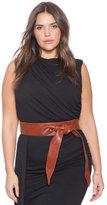 ELOQUII Plus Size Faux Leather Obi Belt