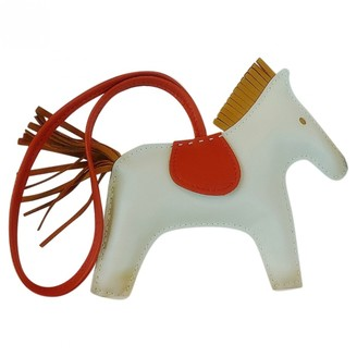 Hermã ̈S HermAs Rodeo White Leather Bag charms