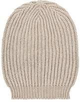 Rick Owens Men's Rib-Knit Silk Beanie