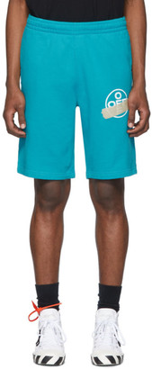Off-White Blue Tape Arrows Sweat Shorts
