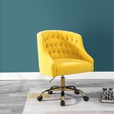Everly Pennell Ergonomic Task Chair Quinn Upholstery Color: Yellow