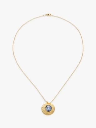 John Lewis & Partners Gemstones Hammered Circle Pendant Necklace