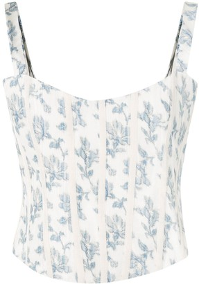 Brock Collection Quintet floral-print corset top