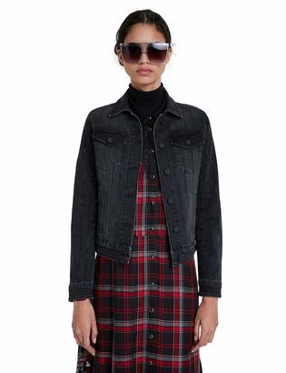 Desigual Women's Chaq_Black Blinder Denim Jacket