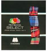 FOL Select Fruit of the Loom Select® Men's 4-Pack Tartan WovenBoxers