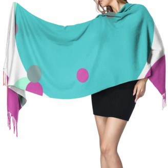 Yushg Dreamy Colorful Bubble Waterdrop Lightweight Scarfs Cashmere Women Scarf Scarf For Women Lightweight 77x27inch/196x68cm Large Soft Pashmina Extra Warm