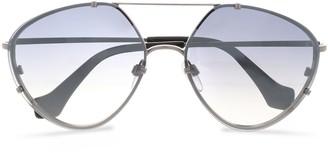 Balenciaga Aviator-style Silver-tone And Acetate Sunglasses