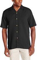 Cubavera Men's Bedford Cord Short Sleeve Woven Shirt