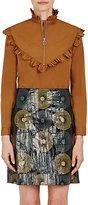 Nina Ricci Women's Cotton Ruffle-Trimmed Blouse-Yellow