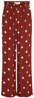 Just Female Red Polka Dots Caia Pants - xs