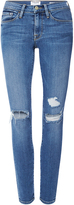 Frame Le Skinny de Jeanne Jeans with Distressed Knees