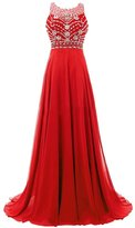 Huafeiwude Womens Formal Long Bridesmaid Ball Gown Party Maxi Prom Dresses US