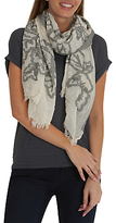 Betty Barclay Floral Weave Scarf, Cream/Grey