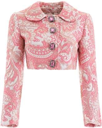 Dolce & Gabbana Cropped Jacquard Blazer
