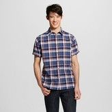 Men's Short Sleeve Shirt Navy Plaid - Mossimo Supply Co.