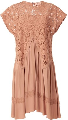 No.21 Lace Overlay Dress