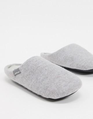 Dunlop soft faux-fur-lined slipper in grey