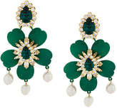 Shourouk embellished floral earrings
