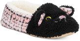 Kensie Sparkle Tweed Cat Critter Slippers