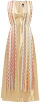 M Missoni Vintage-scarf Silk-blend Lame Maxi Dress - Womens - Yellow Multi