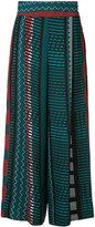 Issey Miyake printed palazzo pants - women - Polyester - 2
