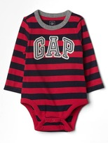 Gap Logo stripe long sleeve bodysuit