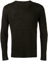 Roberto Collina V-neck jumper - men - Linen/Flax - 46