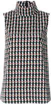Marni ripple print sleeveless top