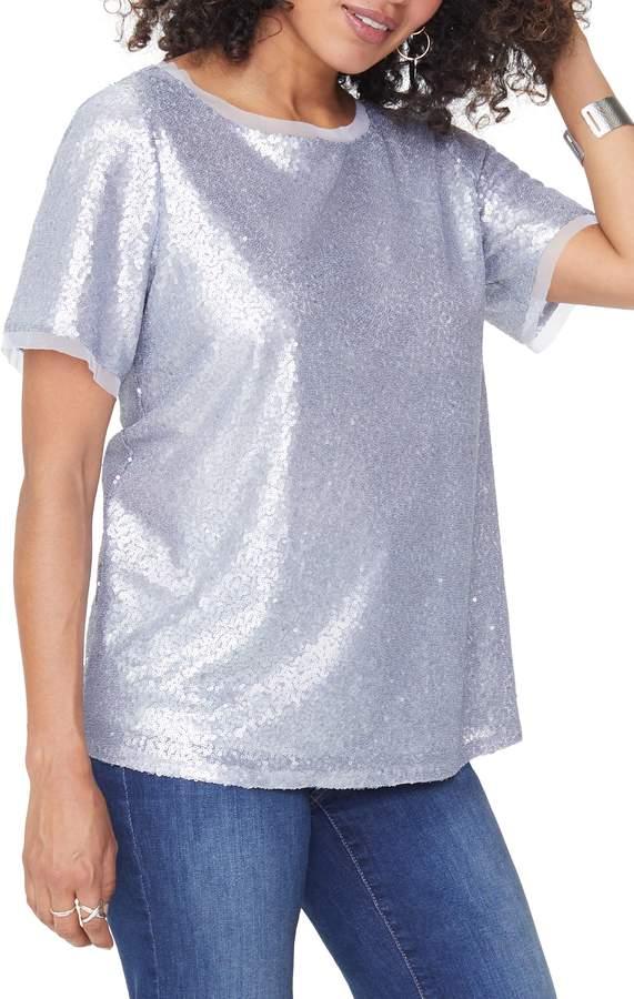 NYDJ Sequin Woven Top