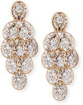 Pomellato Arabesque Diamond Chandelier Earrings in 18K Rose Gold