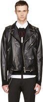 Valentino Black rockstud Untitled 20 Leather Jacket