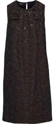Rochas Bow-embellished Metallic Brocade Dress