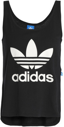 adidas Printed Cotton-jersey Tank