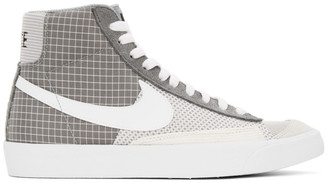 Nike Grey and White Blazer Mid 77 Sneakers