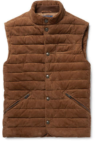 Polo Ralph Lauren Slim-Fit Quilted Suede Gilet