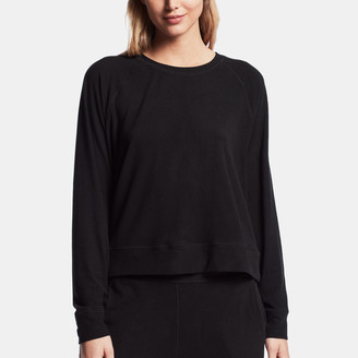 James Perse Micro Sueded Sweat Top