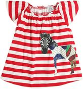 Stella Jean Zebra Patch Cotton Poplin Dress