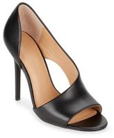 Halston Leather D'Orsay Sandals