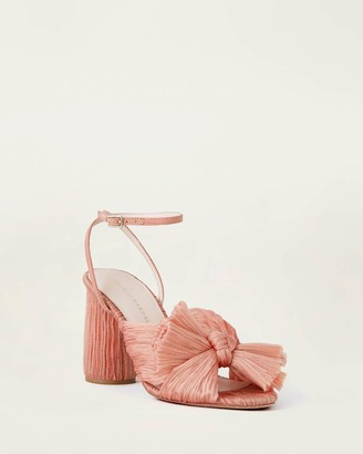 Loeffler Randall Camellia Bow Heel with Ankle Strap Pink